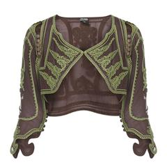 Jean Paul Gaultier brown & green bolero, circa 1997