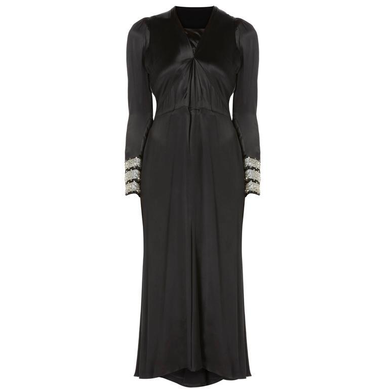 Lanvin haute couture black dress, Spring/Summer 1938 1