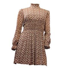 60s Paisley Babydoll Dress