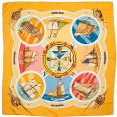 "Vintage Hermes Silk Scarf ""Belle Amures"""