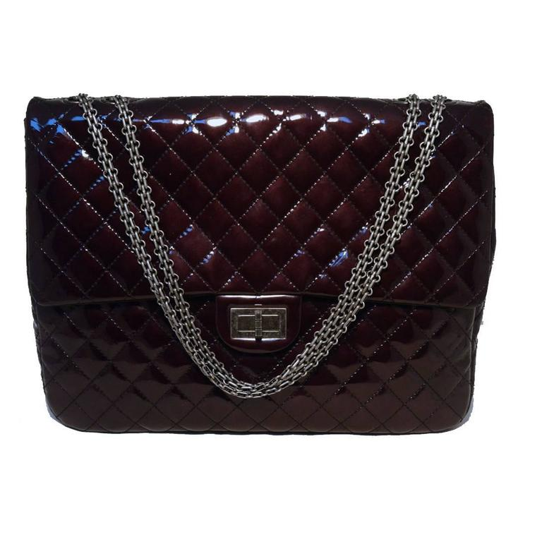 Chanel Quilted Patent Leather Reissue Classic Flap Bag For Sale