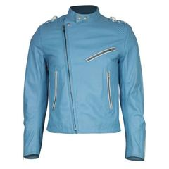 Men's Margiela Sky Blue Leather Jacket