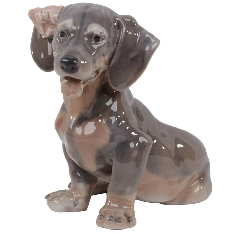 Royal Copenhagen Dachshund Dog Porcelain Figurine 856 At