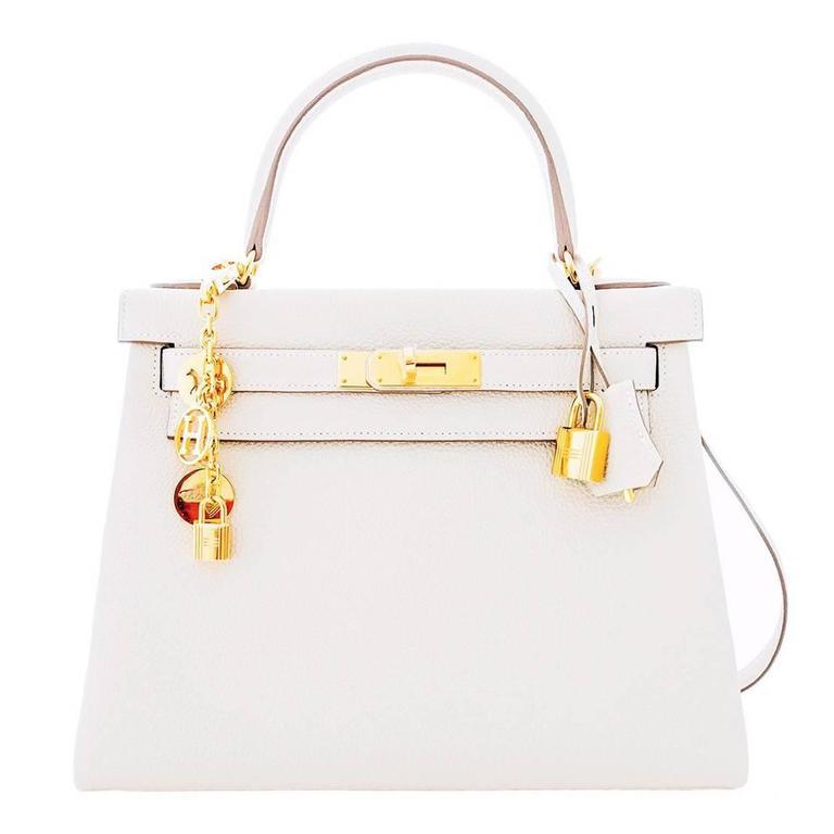a022dfd2db0 ... spain hermes craie chalk togo off white 28cm kelly gold ghw shoulder bag  summer for sale