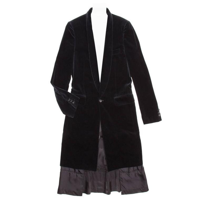 Comme des Garçons Black Velvet Coat