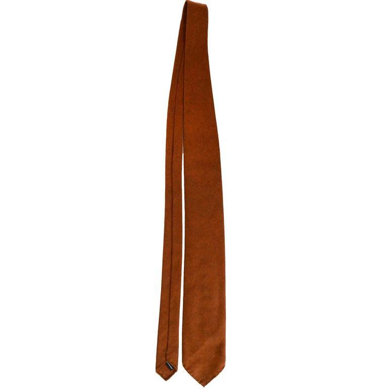 Hermes Burnt Orange Cashmere Tie At 1stdibs