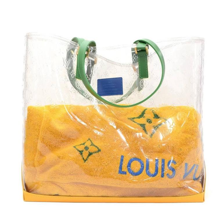 louis vuitton cabas brazil 500 anos clear vinyl x leather xl shoulder tote bag for sale at 1stdibs