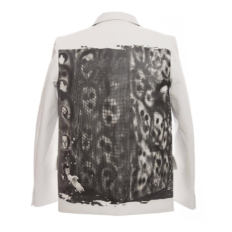 Comme des Garcons Homme Plus White Blazer With Images By Roger Ballen, Fall 2015 For Sale
