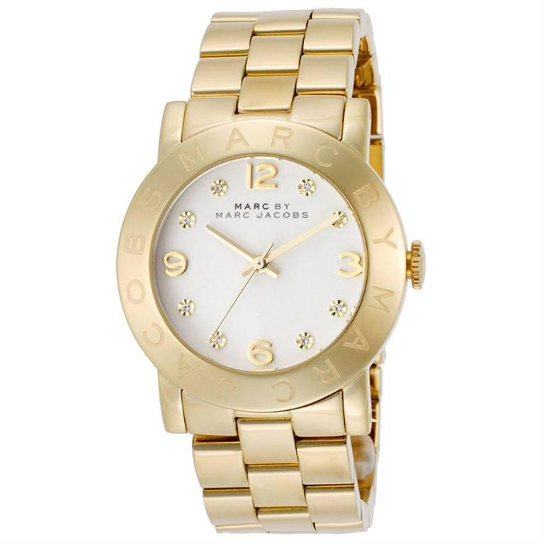 Marc by Marc Jacobs Amy White Dial Gold-Tone Stainless Steel Ladies Watch MBM305 1