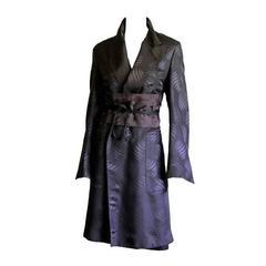 Free Shipping: Iconic Tom Ford For Gucci FW 2002 Silk Kimono Runway Coat & Obi!