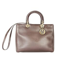 Brown Christian Dior Leather Satchel