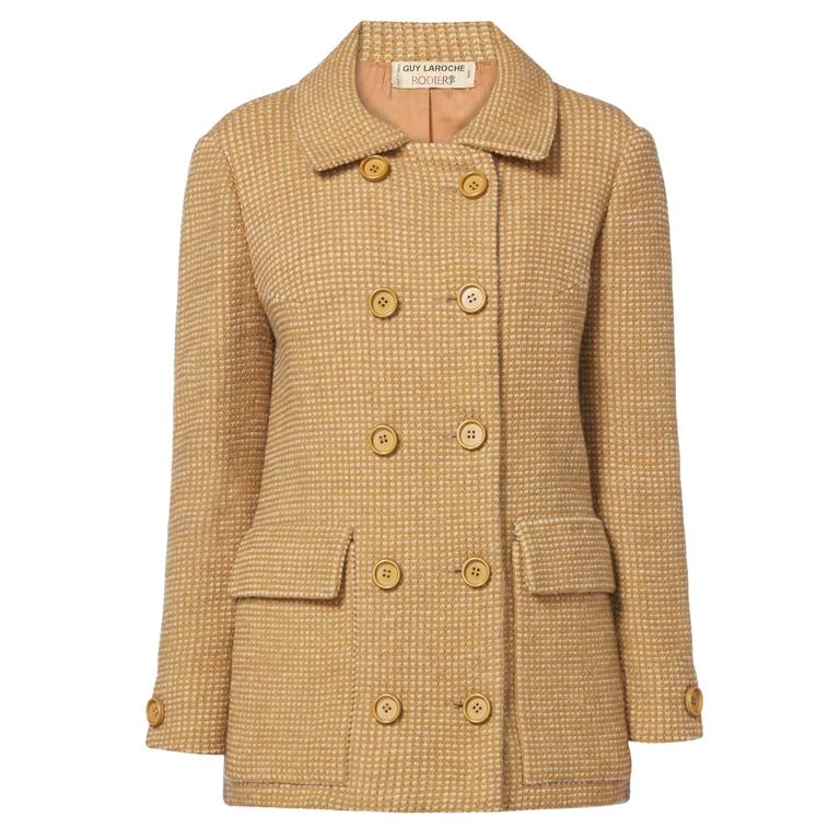 Guy Laroche brown tweed jacket, circa 1963