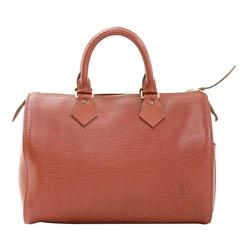 Vintage Louis Vuitton Speedy 25 Kenyan Fawn Brown Epi Leather City Hand Bag