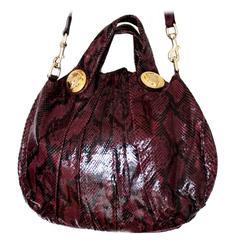 Gucci Purple Python Skin Handbag