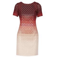 Missoni Beaded Ombre Crochet Knit Dress