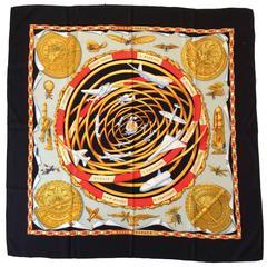 Rare Hermes Silk Scarf - Reves D'Espace