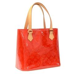 Louis Vuitton Houston Red Vernis Leather Hand Bag