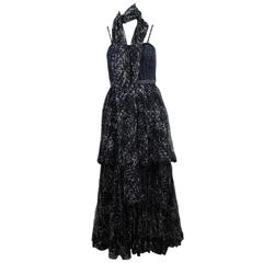 Chanel $9,000 Limited Edition 2pc Silk Gown Size 34
