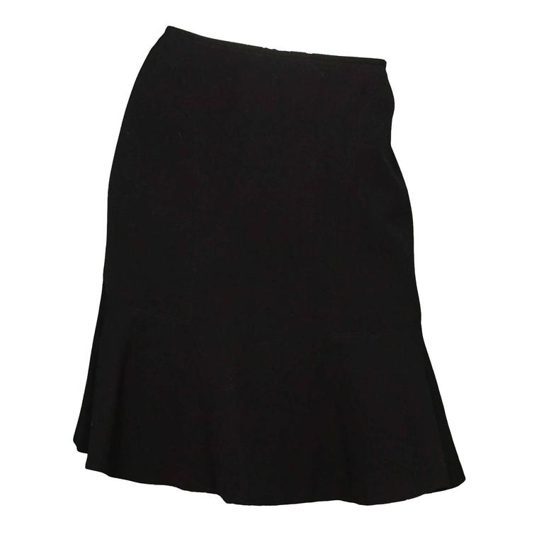 Alaia Black Wool Skirt Sz 44