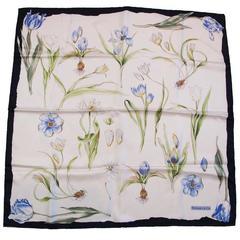 """Tiffany & Co. Silk """"Tulip"""" Print Scarf"""