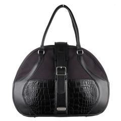 SAMSONITE BLACK LABEL by ALEXANDER McQUEEN Black Travel Bag OVERNIGHT BAG