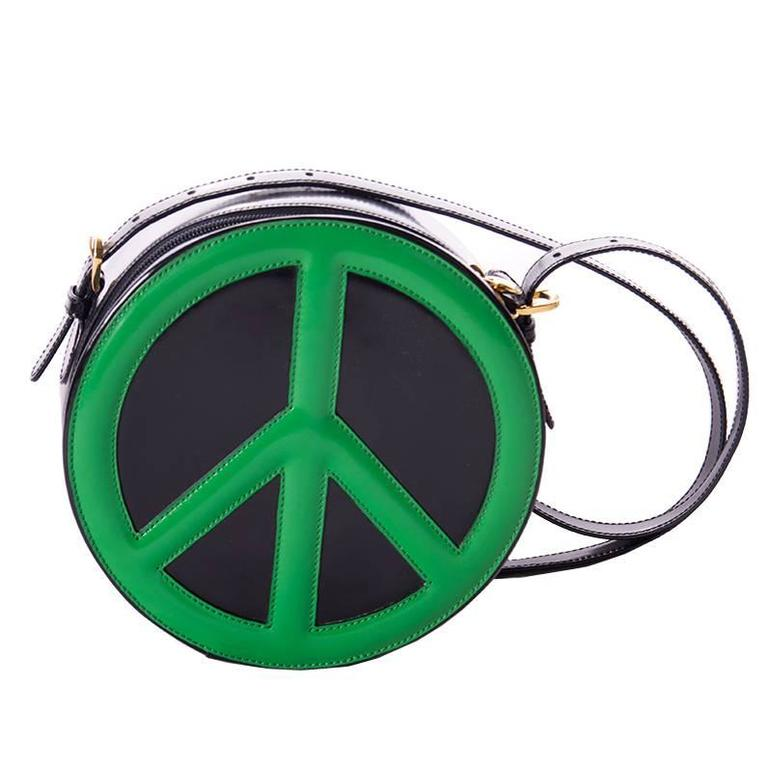 Moschino Redwall Peace Sign Bag 1