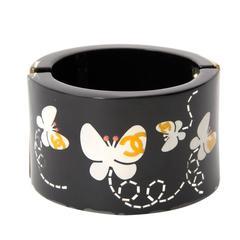 Chanel Black Resin Butterfly Cuff Bracelet