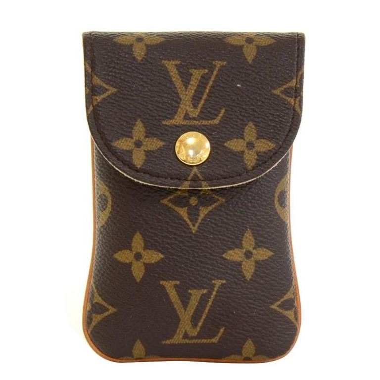 louis vuitton etui telephone mm monogram canvas phone case. Black Bedroom Furniture Sets. Home Design Ideas