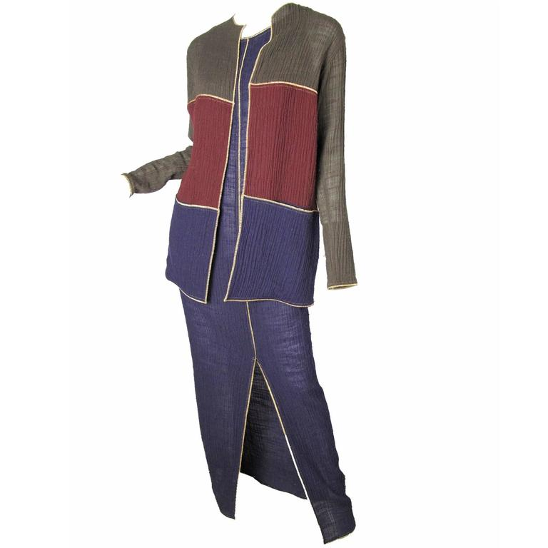 Geoffrey Beene Dress and Jacket, 1970s  For Sale