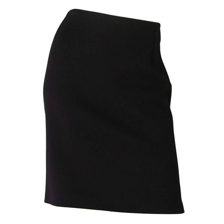 MaxMara Black Wool Skirt Sz 8