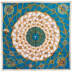 Gorgeous Hermes Les Feux De L'Espace Silk Scarf