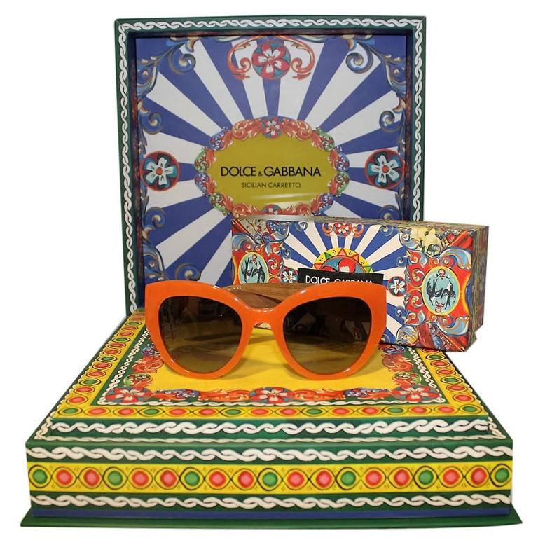 New Dolce & Gabbana DG 4278 Sicilian Carretto Sunglasses For Sale