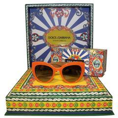 New Dolce & Gabbana DG 4278 Sicilian Carretto Sunglasses
