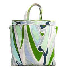 Large Emilio Pucci Multicolour Cotton Velvet Tote Bag