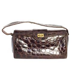 40s Espresso Alligator Handbag