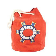 Red Hermès Terry Cotton Bucket Bag