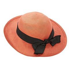 Orange Chanel Straw Hat