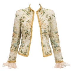 Oscar de la Renta Lesage Embroidered Evening Jacket, Circa: 1990's