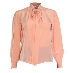 Yves Saint Laurent Rive Gauche Silk Blouse