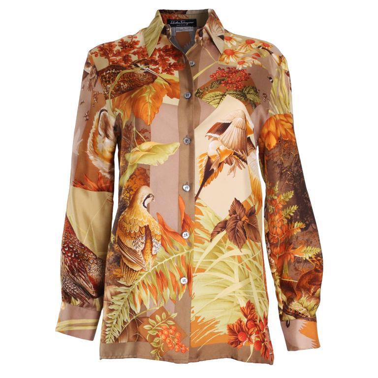 Silk Overshirt by Salvatore Ferragamo 1