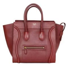 Celine Red Leather Mini Luggage Tote Bag rt. $3,100