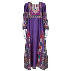 Arabesque Hand-embroidered Silk Kaftan