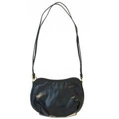 80s Black Leather Morris Moskowitz Purse