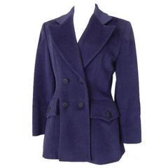 Ines de la Fressange Vintage Navy Jacket Warm Cashmere  40 / 6