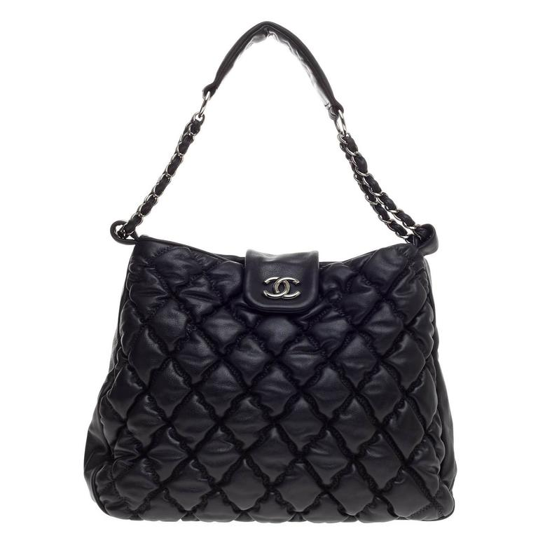 01e905bed1e9ea Chanel Bubble Hobo Quilted lambskin Large at 1stdibs