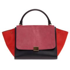 Celine Tricolor Trapeze Pony Hair Medium