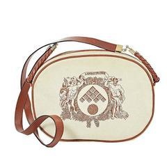 Ivory & Tan Bottega Veneta Crossbody Bag