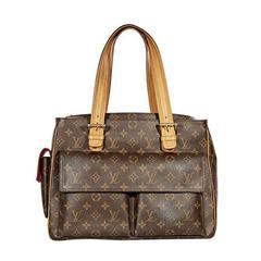 Brown Louis Vuitton Monogram Canvas Multipli Cite Tote Bag