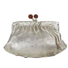 Silver Marni Leather Clutch