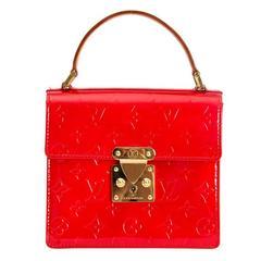 Rare Louis Vuitton Red Monogram Vernis Spring Street Tote Bag